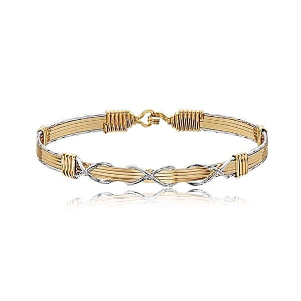 Ronaldo I Love You Forever Bracelet - Gold/Silver