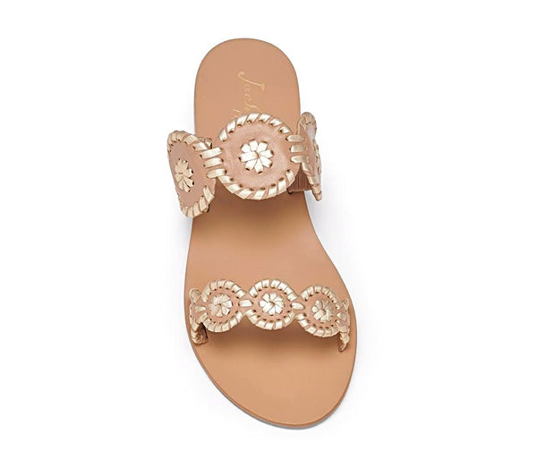 Jack Rodgers Lauren Sandals - Buff/Gold