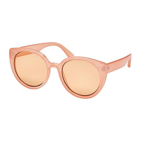 Blue Gem Rose Modern Round Sunglasses