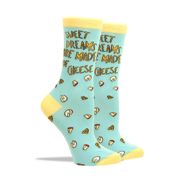 Patches & Pins Women's Socks - Sweet Dreams Are Made of Cheese