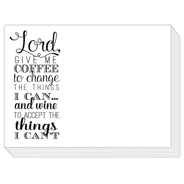 Rosanne Beck Slab Pad - Lord, Give Me Coffee