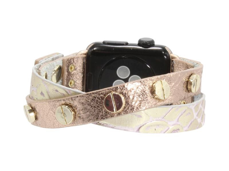 Erimish Crisscross Leather Apple Watch Band - Rose
