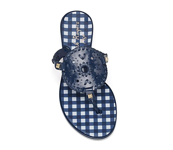 Jack Rogers Gingham Georgica Jelly - Navy/White