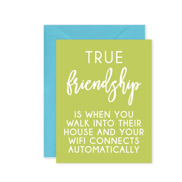 Cleerely Stated Greeting Card - True Friendship