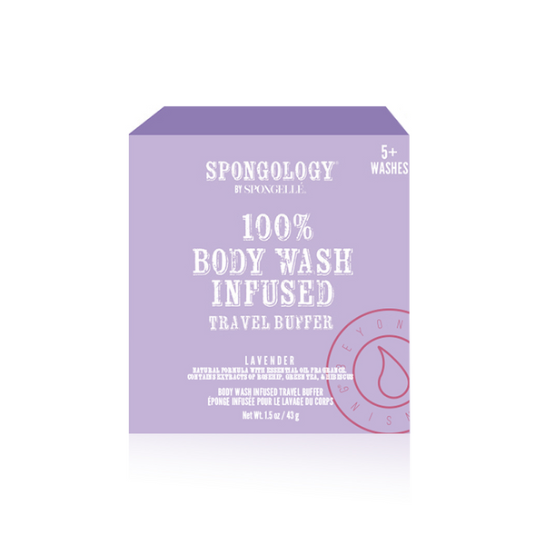 Spongology Infused Travel Buffer - Lavender