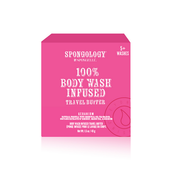 Spongology Infused Travel Buffer - Geranium
