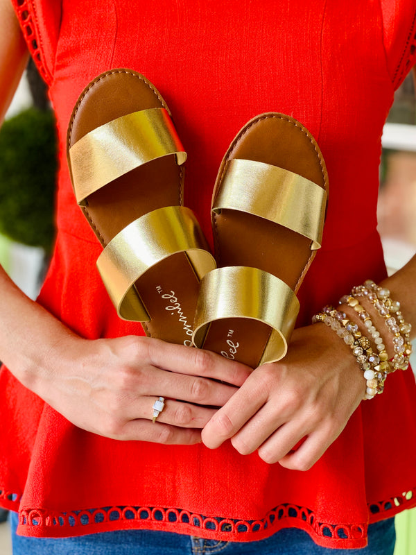 Dotty Sandal - Gold