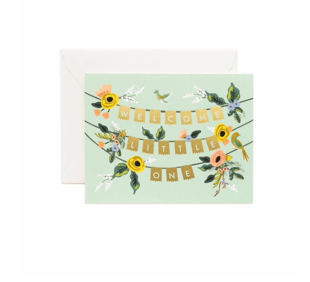 Rifle Paper Co. Greeting Card - Welcome Little One