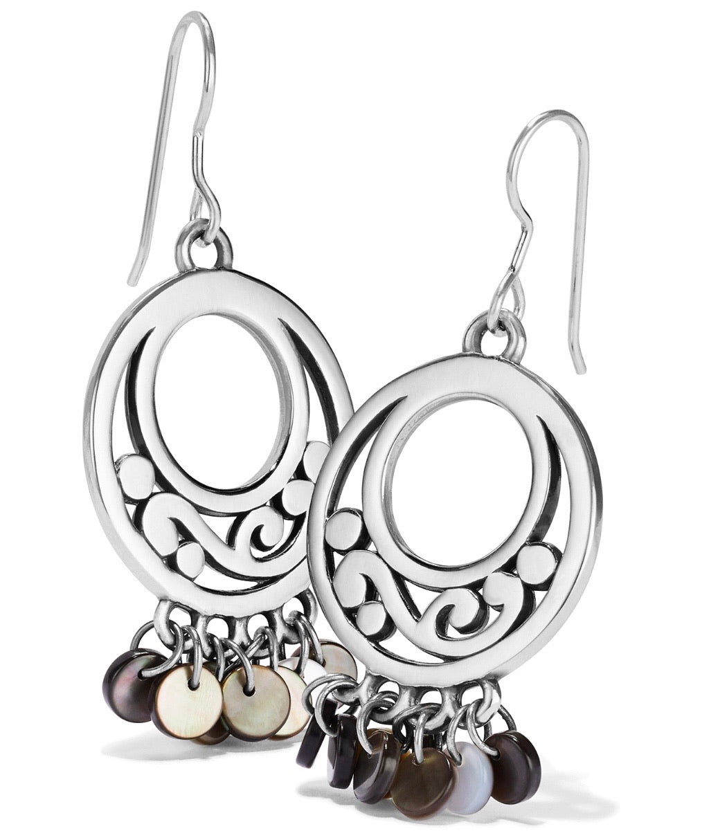 Brighton Contempo Shell Black French Wire Earrings - JA6963
