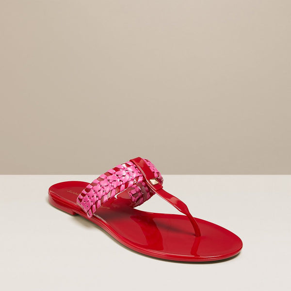 Jack Rogers Tinsley Jelly Sandals - Red & Magenta