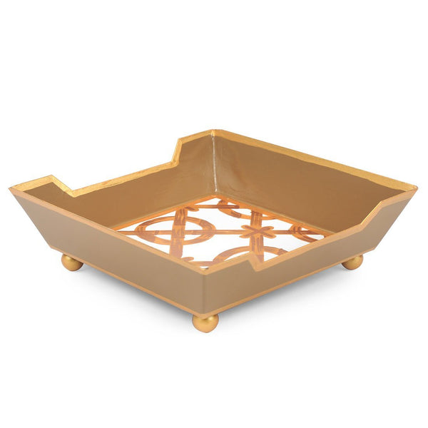 Jaye's Studio Cocktail Napkin Tray - Trellis Gold