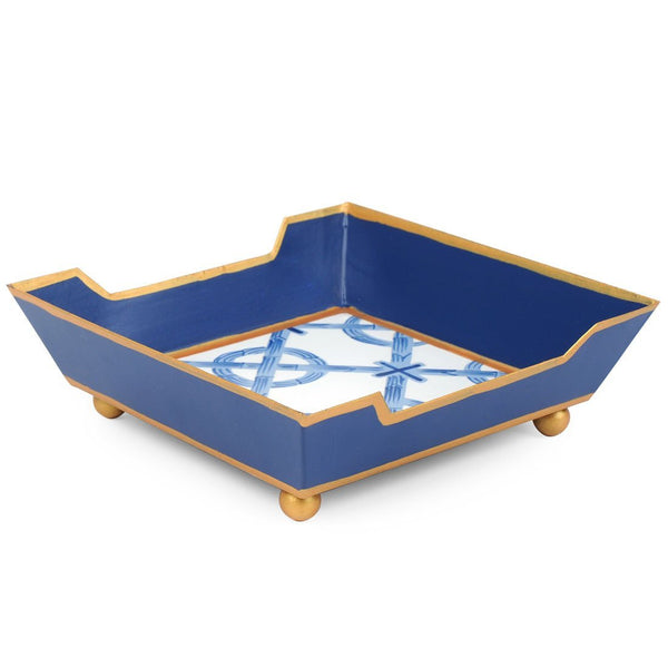 Jaye's Studio Cocktail Napkin Tray - Trellis Blue