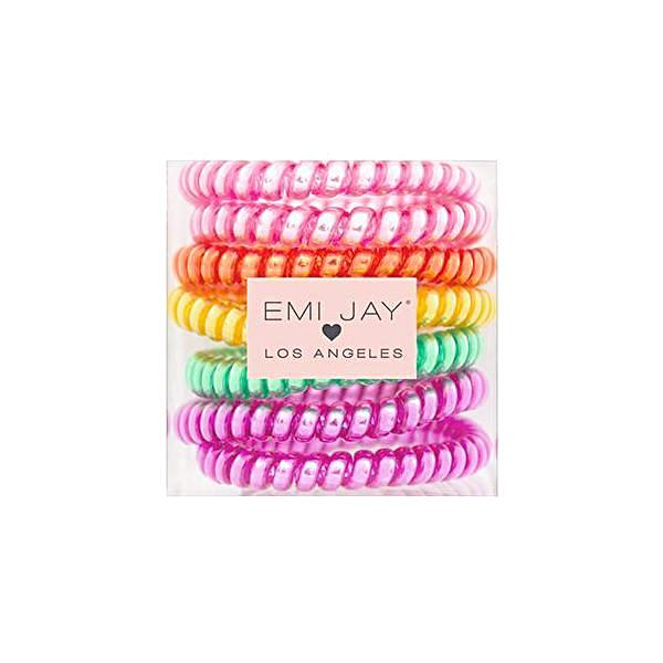 Emi Jay Twist Hair Ties Boxed Set Of 7 - Jelly Beans