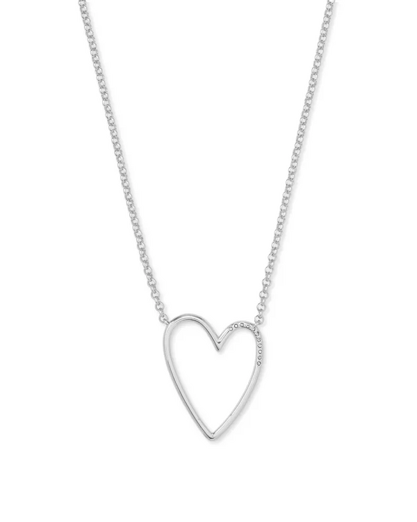 Kendra Scott Ansley Heart Pendant Necklace - Silver
