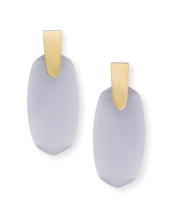 Kendra Scott Aragon Earrings - Slate Cats Eye