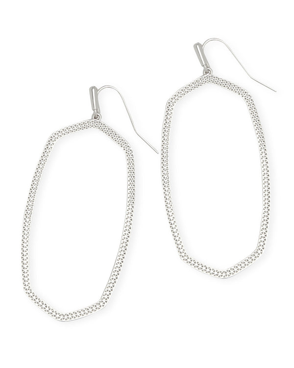 Kendra Scott Danielle Open Frame Statement Earrings - Silver