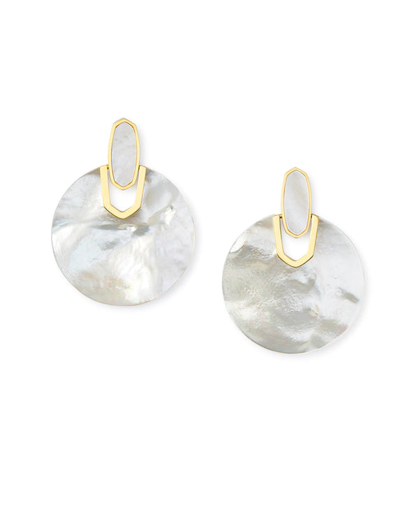 Kendra Scott Didi Earrings - Gold Ivory Mother Of Pearl