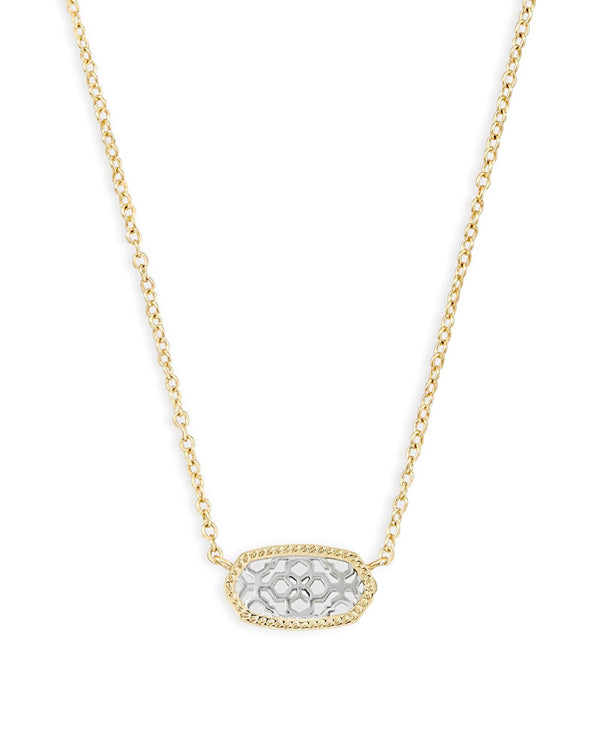 Kendra Scott Elisa Necklace - Gold & Silver Filigree Mix