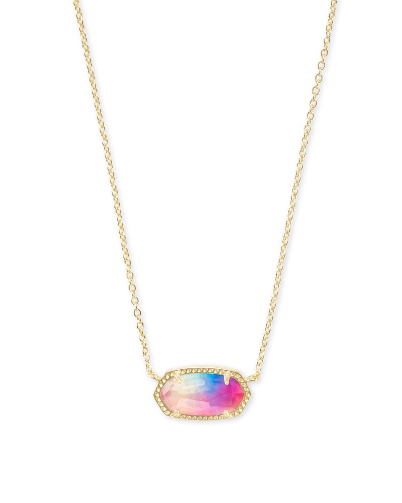 Kendra Scott Elisa Necklace - Gold/Watercolor Illusion