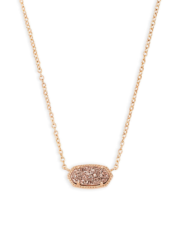 Kendra Scott Elisa Necklace - Rose Gold Drusy