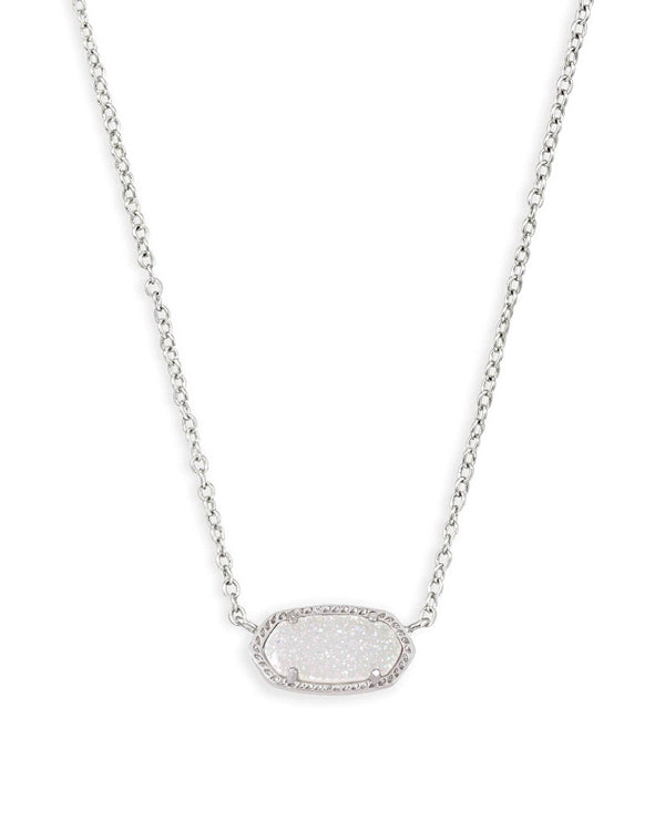 Kendra Scott Elisa Necklace - Iridescent Drusy & Silver