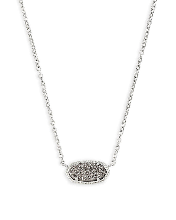 Kendra Scott Elisa Necklace -  Silver Platinum Drusy
