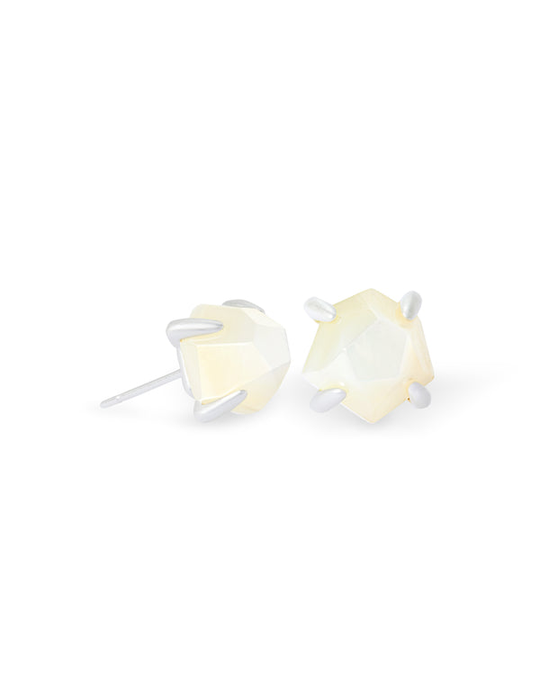 Kendra Scott Ellms Small Stud - Silver Ivory Mother of Pearl