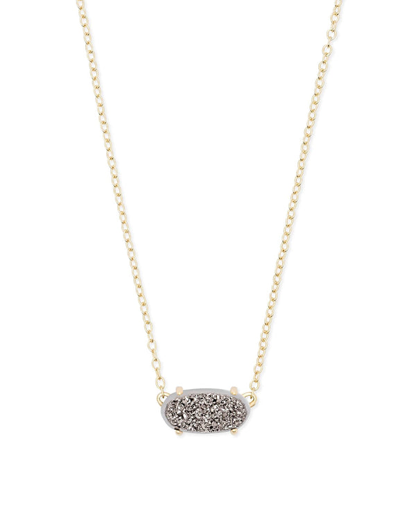 Kendra Scott Ever Necklace - Platinum Drusy