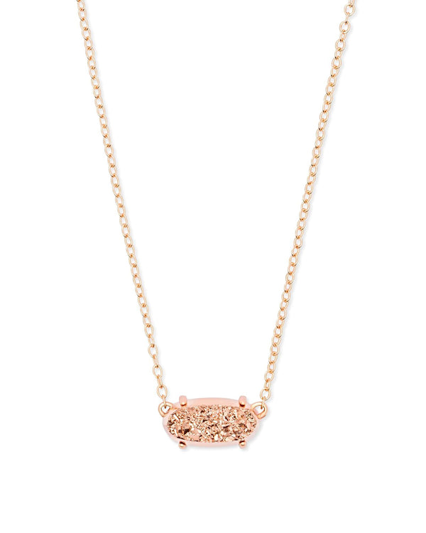 Kendra Scott Ever Necklace - Rose Gold Drusy