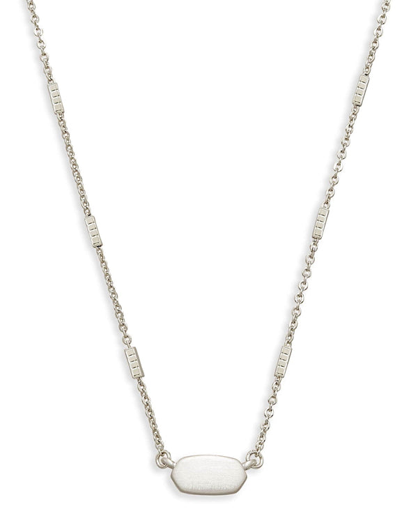 Kendra Scott Fern Necklace - Brushed Silver