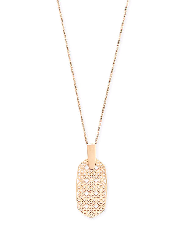 Kendra Scott Inez Necklace - Rose Gold Filagree
