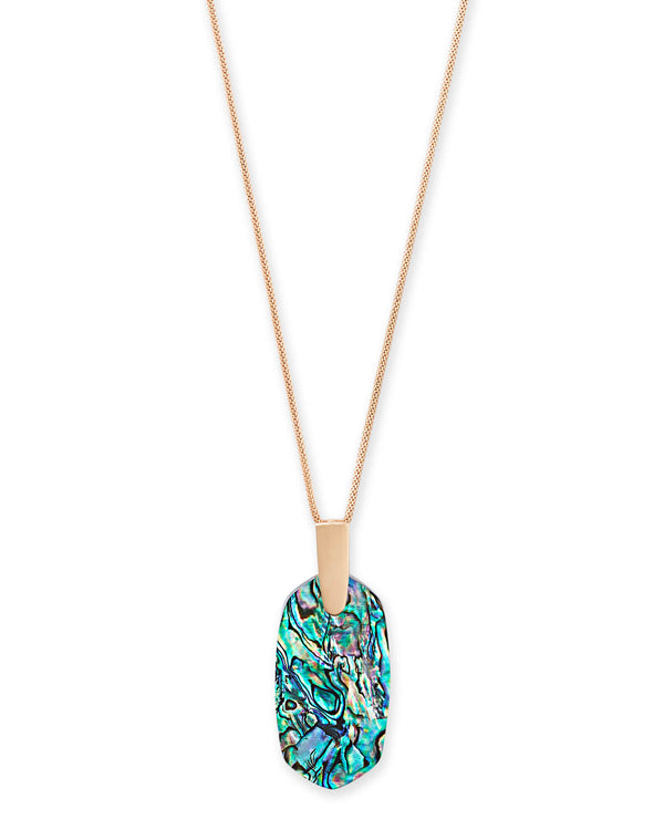 Kendra Scott Inez Necklace - Rose Gold Abalone