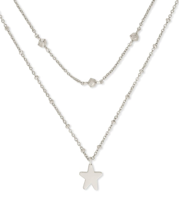 Kendra Scott Jae Star Multi Strand Necklace - Silver