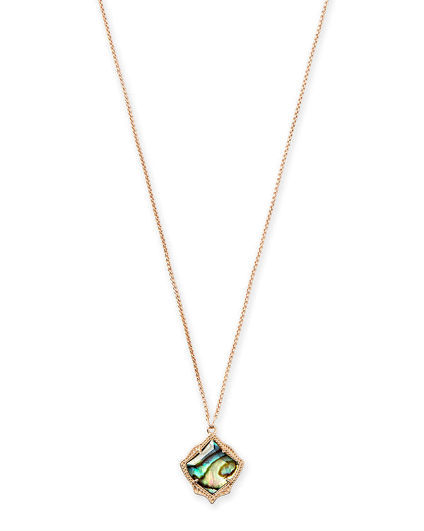 Kendra Scott Kacey Necklace - Rose Gold Abalone
