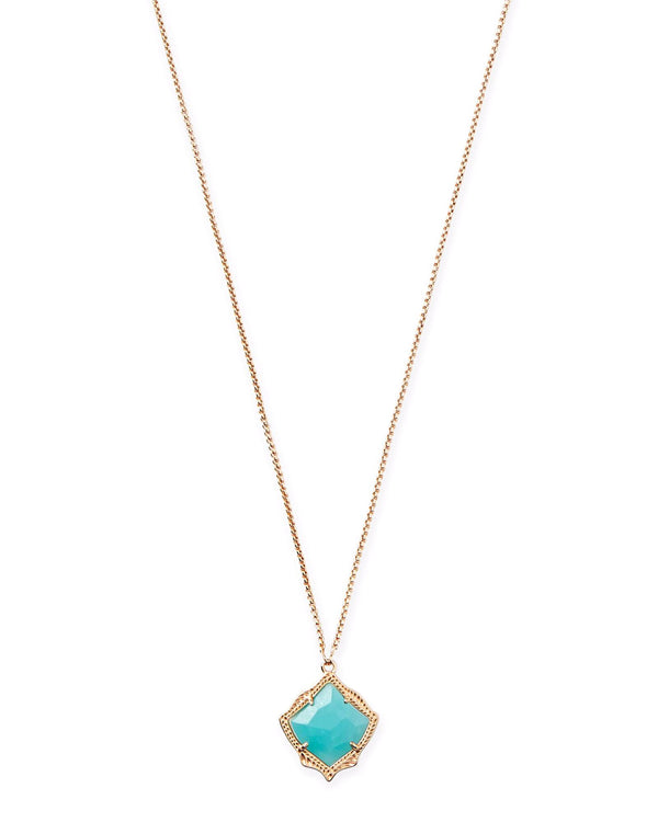 Kendra Scott Kacey Necklace - Rose Gold Teal Quartzite