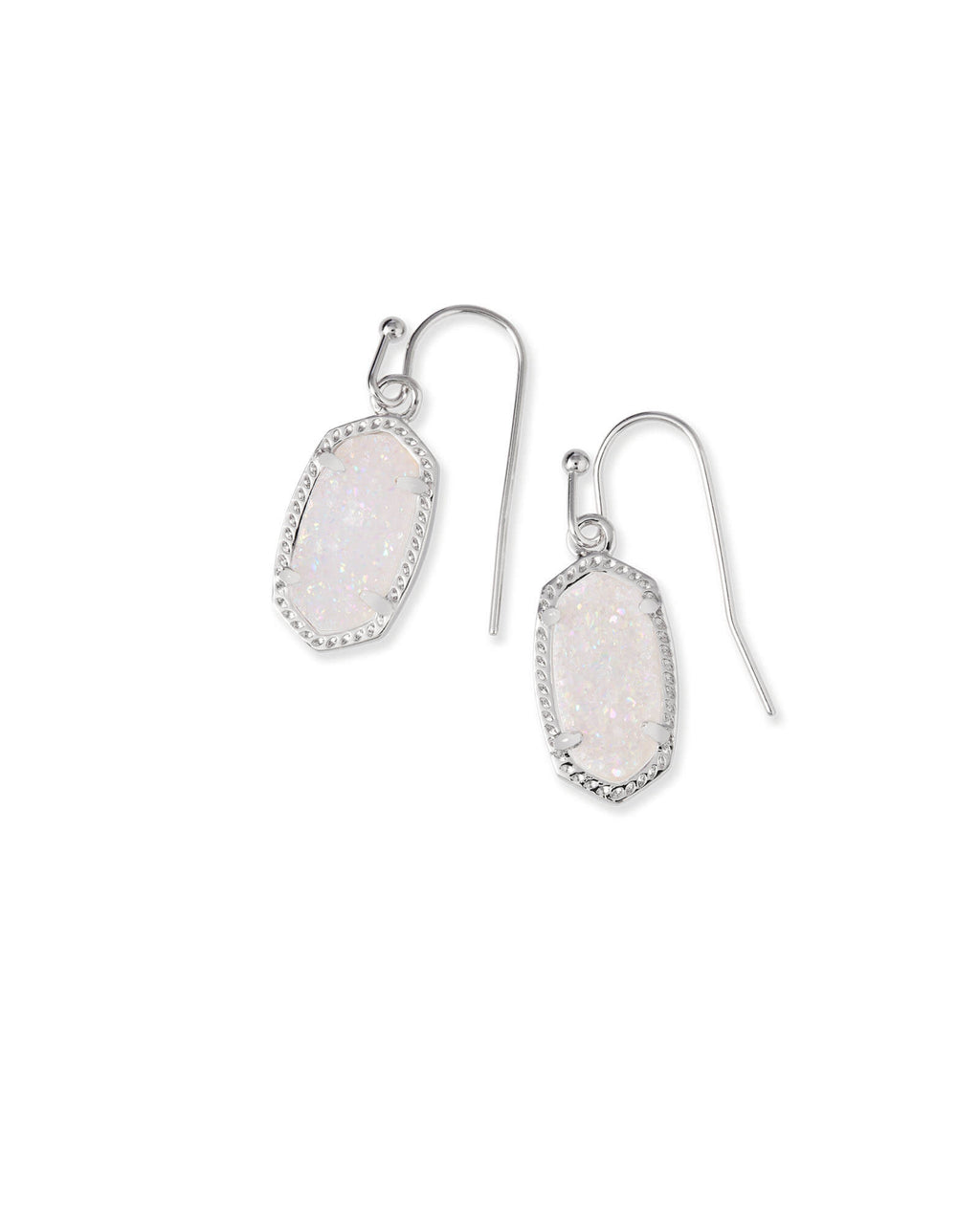 Kendra Scott Lee Earrings - Silver Iridescent Drusy