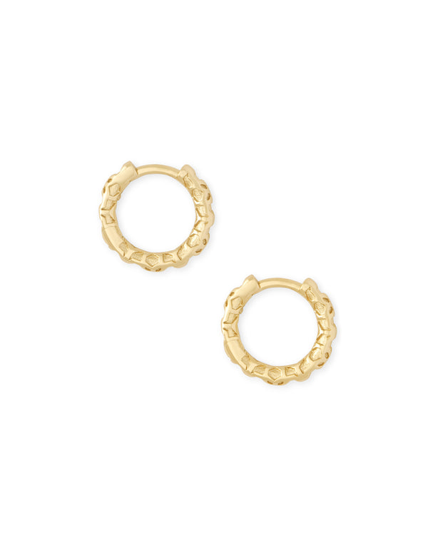 Kendra Scott Maggie Huggie Earrings - Gold Filigree