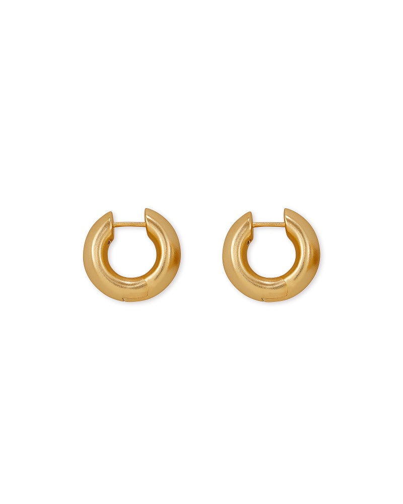 Kendra Scott Mikki Huggie Earrings - Vintage Gold