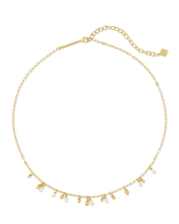 Kendra Scott Mollie Choker Necklace - Gold/White Pearl