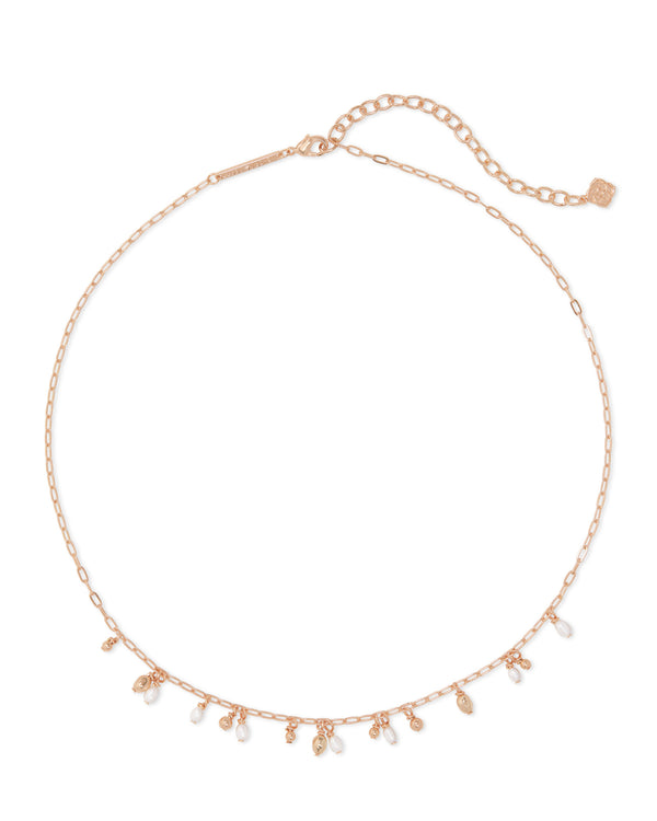 Kendra Scott Mollie Choker Necklace - Rose Gold/White Pearl
