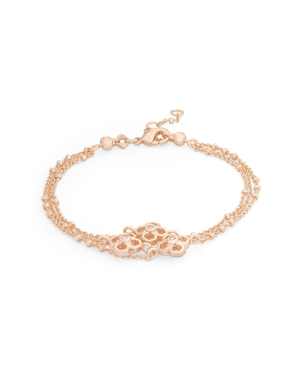 Kendra Scott Multi Strand Rue Bracelet- Rose Gold