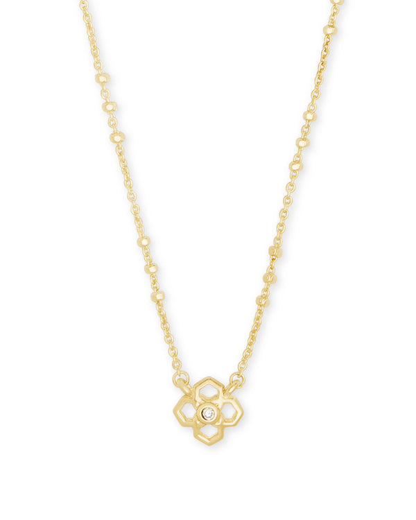 Kendra Scott Rue Short Pendant Necklace - Gold