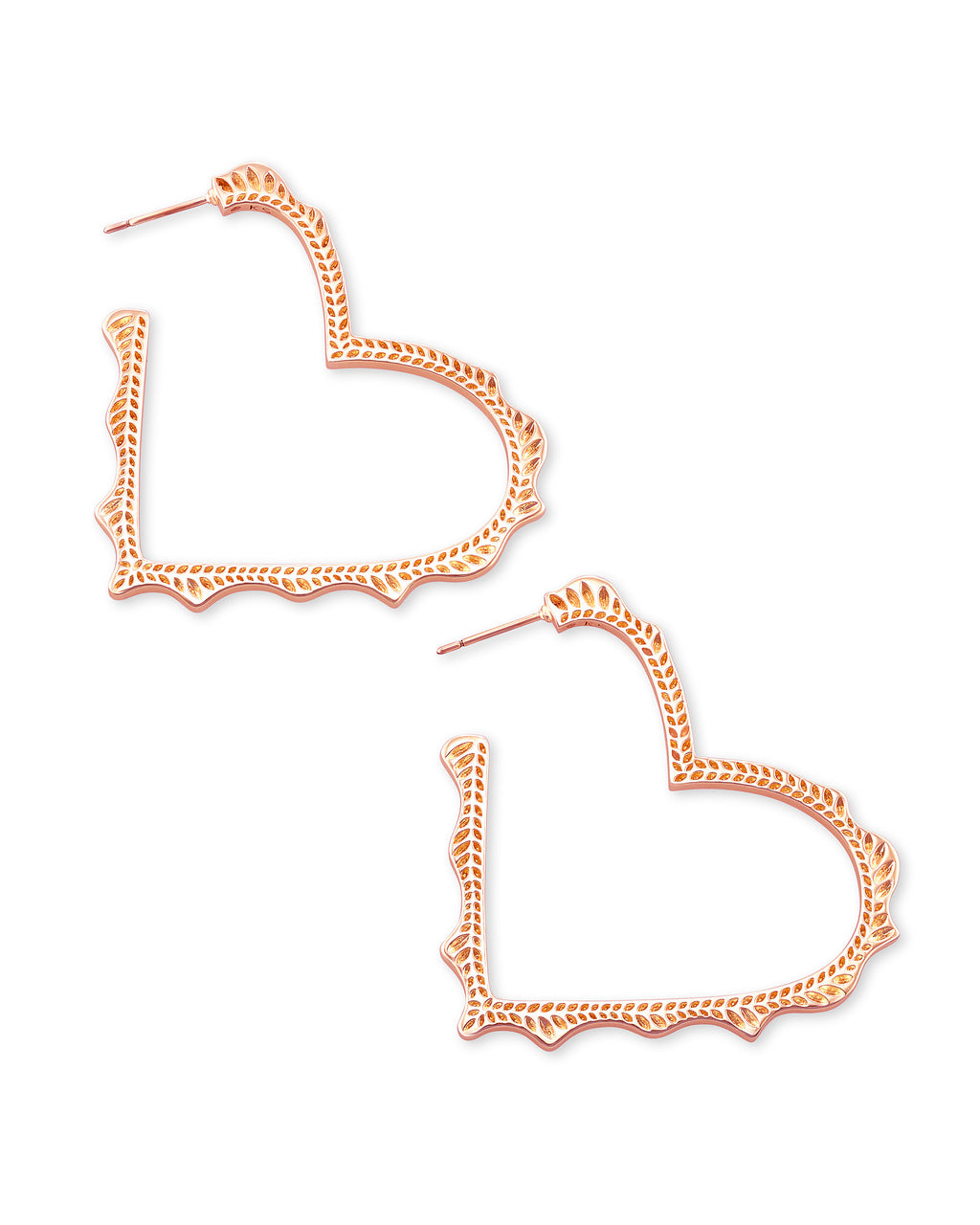 Kendra Scott Sophee Heart Hoop Earrings - Rose Gold