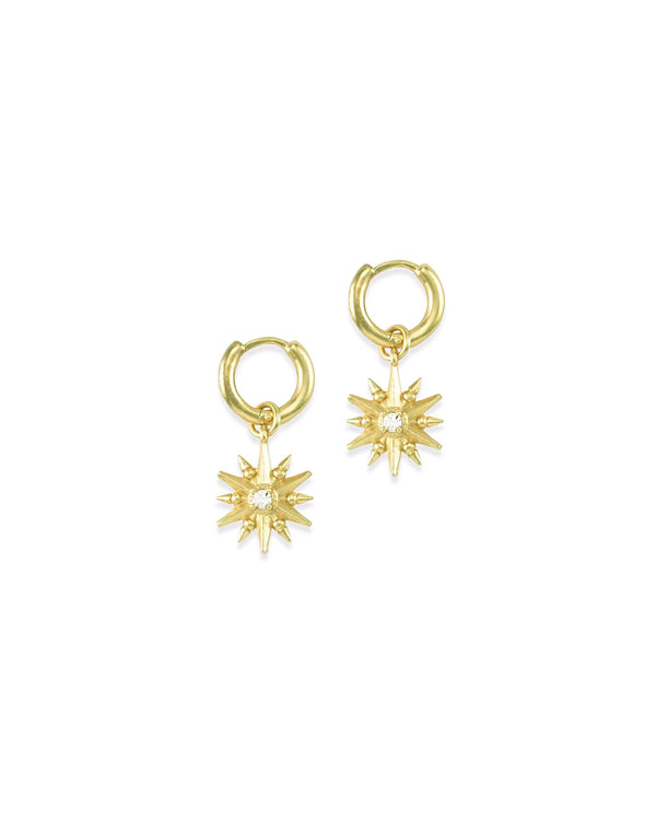 Kendra Scott Starburst Charm Huggie Earring Set - Gold