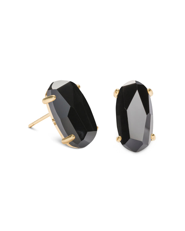 Kendra Scott Betty Earrings - Black Opaque Glass
