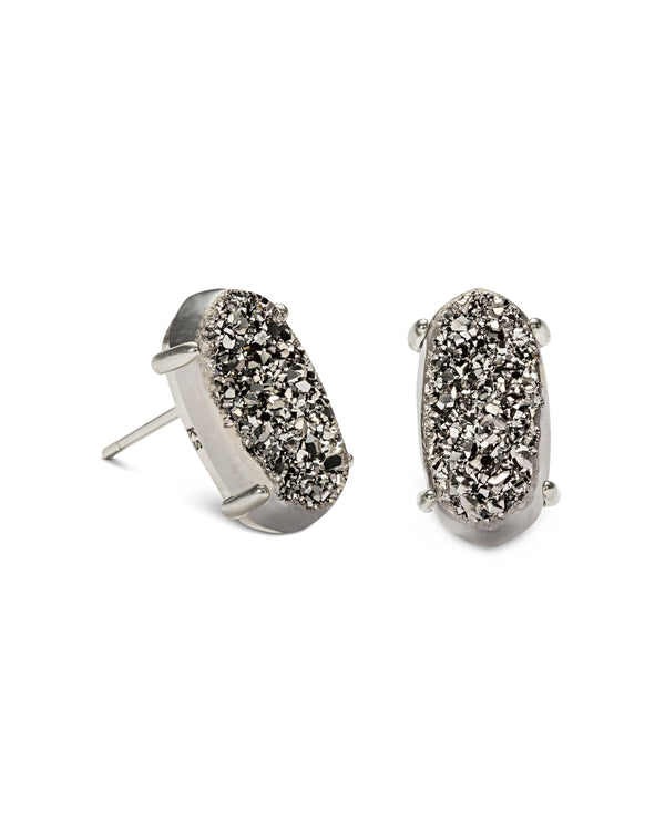 Kendra Scott Betty Earrings - Platinum Drusy & Silver