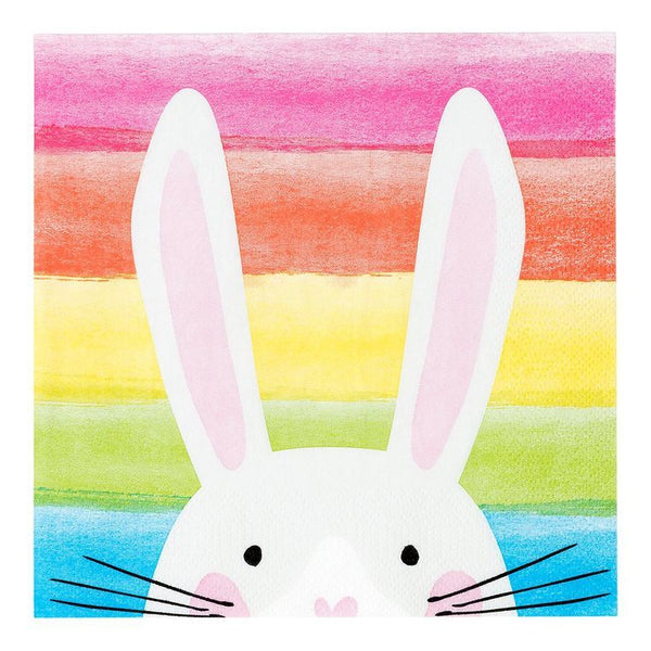 Luncheon Napkin - Hop Over The Rainbow Bunny Napkins