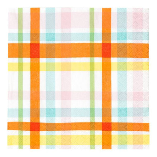 Luncheon Napkin - Hop Over The Rainbow Check