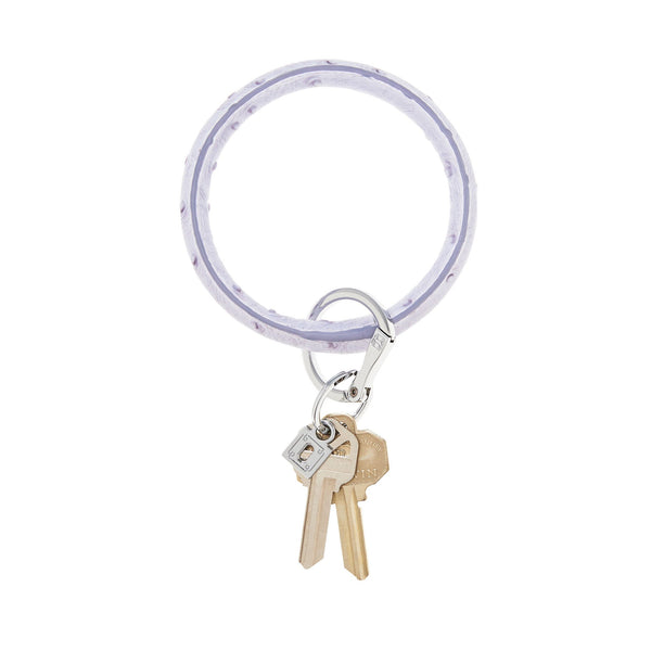 Big O Key Ring - Lavender Ostrich