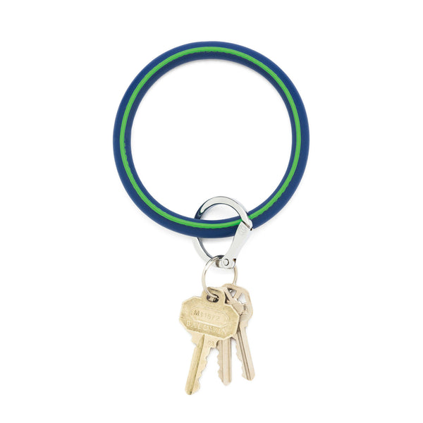 Big O Key Ring - Mind Blowing Blue Leather